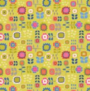 Lewis & Irene - Hann's House - 5817 - Multicoloured Floral on Yellow - A279.2 - Cotton Fabric
